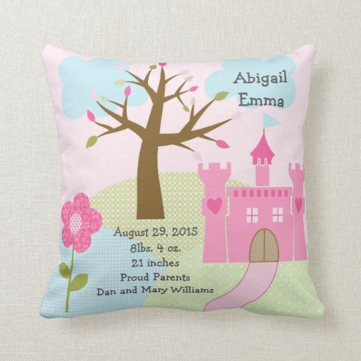 Personalized Princess Dream/Castle Keepsake Pillow