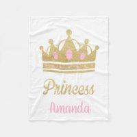 Personalized Princess Fleece Blanket