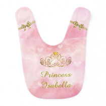 Personalized Princess Isabella Bib, Add Your Name Bib