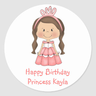 Personalized Princess lollipop labels stickers