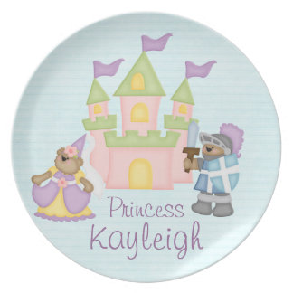 Personalized Princess Melamine Plate