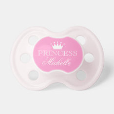 Personalized Princess Pacifier With Name And Crown at Zazzle