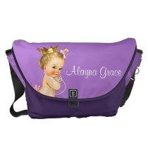 Personalized Princess Purple Baby Diaper Bag