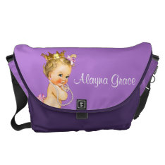 Personalized Princess Purple Baby Diaper Bag at Zazzle