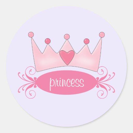 Personalized Princess Tiara Stickers