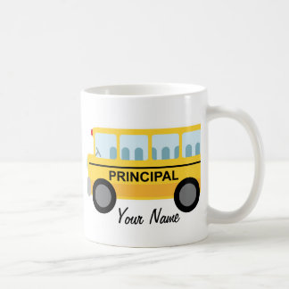 Personalized Principal School Bus Gift Coffee Mug