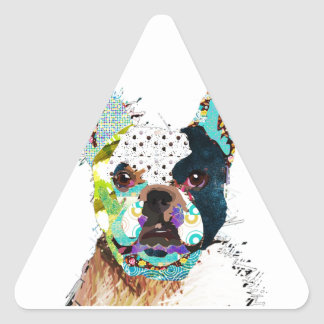 Personalized product triangle sticker