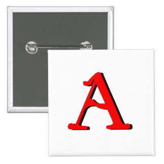Personalized Products: Initial A Pin