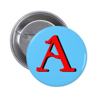 Personalized Products: Initial A Pinback Button