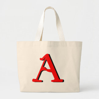 Personalized Products: Initial A Large Tote Bag