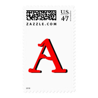 Personalized Products: Initial A Postage Stamp