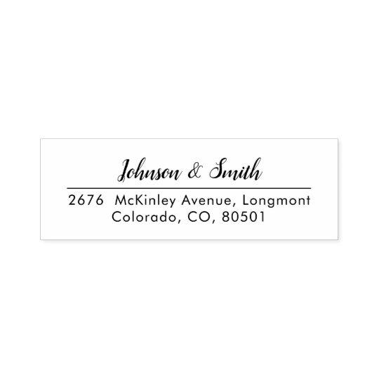 Return Address Self Inking Stamp