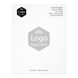 Personalized Promotional Business Logo Letterhead at Zazzle