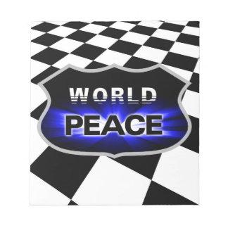 Personalized Propagating World Peace Notepad