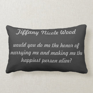 Personalized proposal pillow
