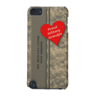 Personalized Proud Military Grandpa Camouflage iPod Touch (5th Generation) Covers