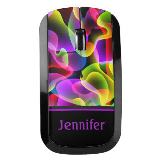 Personalized Psychedelic Lava Lamp Pattern Wireless Mouse