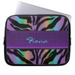 Personalized Psychedelic Rainbow Zebra Skin Sleeve Laptop Sleeves