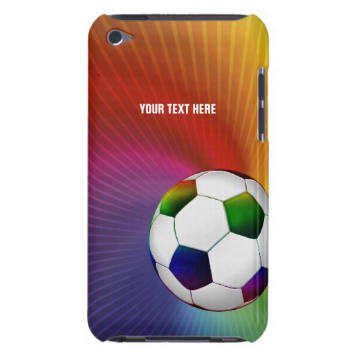Personalized Psychedelic Soccer Ball (Football) iPod Case-Mate Case