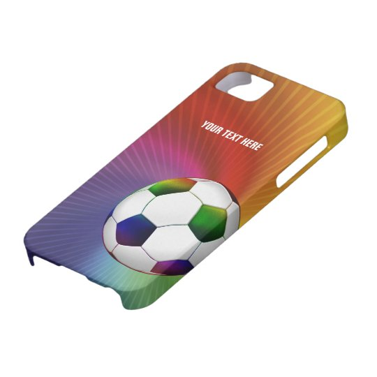 Personalized Psychedelic Soccer iPhone SE/5/5s Case