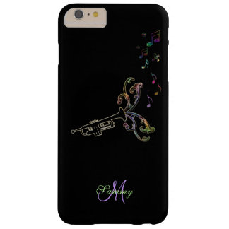 Personalized Psychedelic Trumpet Music iPhone Case Barely There iPhone 6 Plus Case