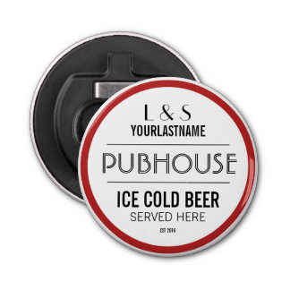 Personalized Pubhouse Beer Sign Bottle Opener