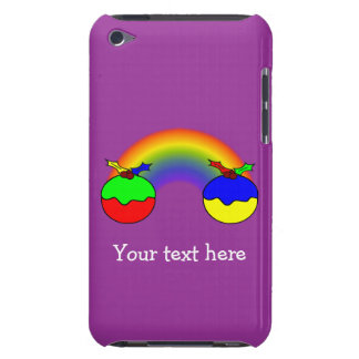 Personalized Puddings For Christmas And Rainbow Barely There iPod Case
