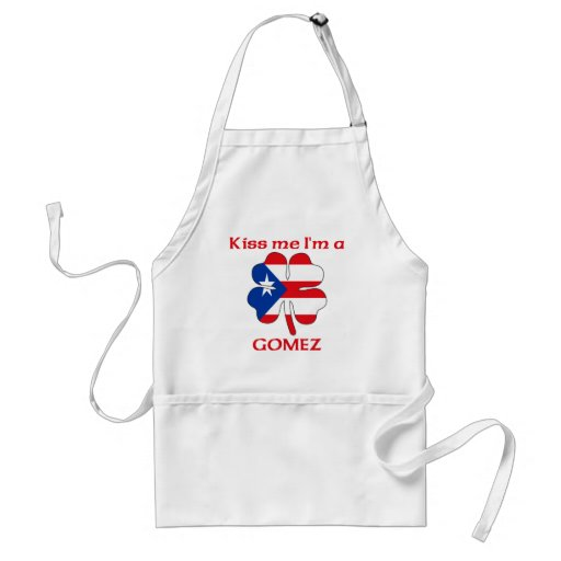 Personalized Puerto Rican Kiss Me I'm Gomez Adult Apron