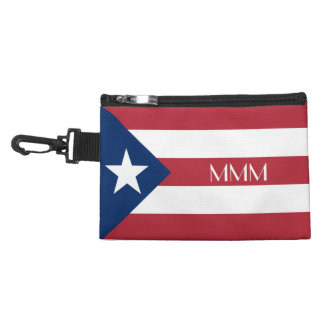 Personalized Puerto Rico Flag Accessory Bags