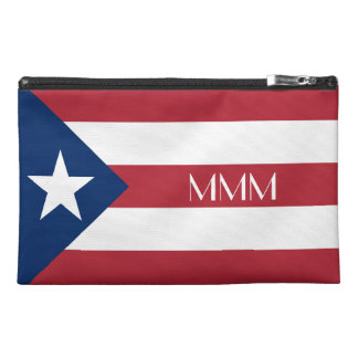 Personalized Puerto Rico Flag Travel Accessory Bags