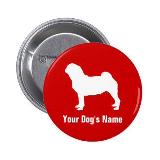 Personalized Pug パグ Pinback Button