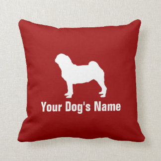 Personalized Pug パグ Throw Pillow