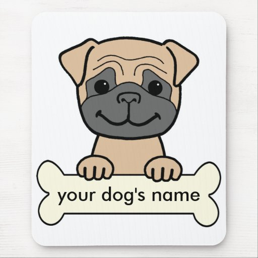 Personalized Pug Mouse Pad