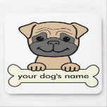 Personalized Pug Mouse Pads