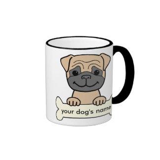 Personalized Pug Ringer Coffee Mug