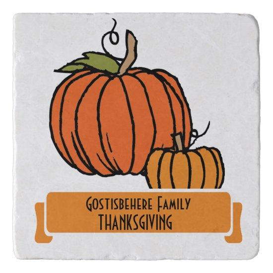 Personalized Pumpkin Thanksgiving Dinner Trivet