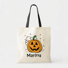 Personalized Pumpkin Treat Bag at Zazzle