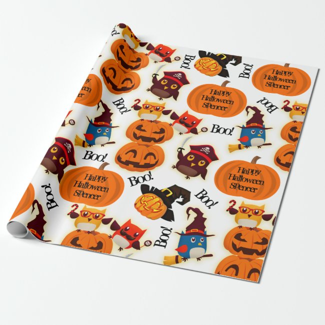 Personalized Pumpkins Halloween Wrapping Paper