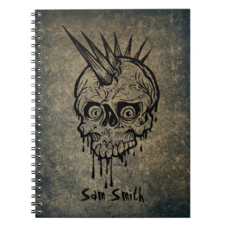 Personalized // Punk skull Notebook