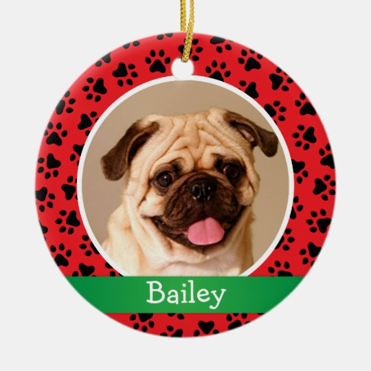 Personalized Puppy Dog Pet Photo Ornament | Zazzle
