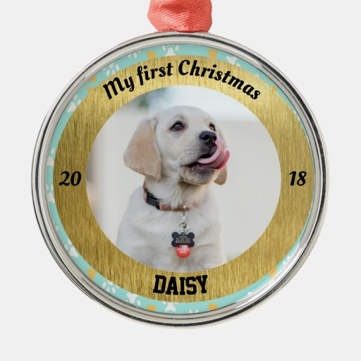 Dogs First Christmas Ornament.Puppy S First Christmas Ornaments Let S Personalize That