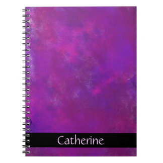 Personalized Purple Abstract Texture Notebook