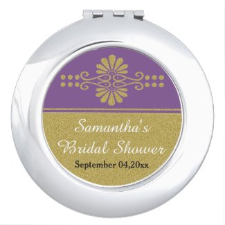 Personalized Purple And Gold Bridal Shower Favor