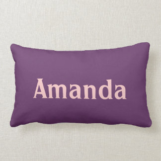 Personalized purple and pink decorative pillow