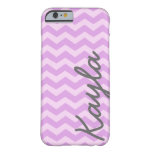 Personalized Purple and Pink Girly Chevron Pattern iPhone 6 Case