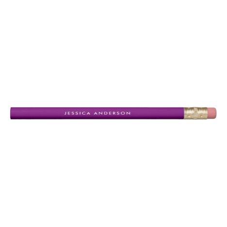 Personalized Purple And White Pencil