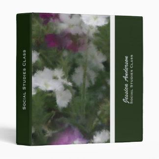Personalized: Purple And White Verbena Binder