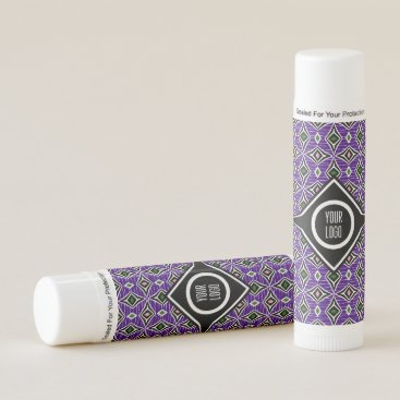Aztec Themed Personalized purple aztec boho diamond design lip balm