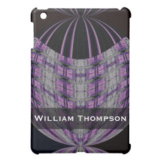 Personalized purple black global abstract iPad mini cover