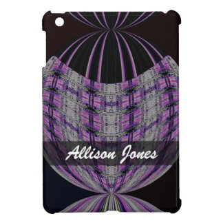 Personalized purple black global abstract case for the iPad mini